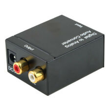 Optical Toslink Digital Coaxial to Analog RCA L/R Audio Converter Adapter &Cable