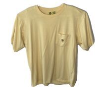 Duck Head Mens Large Yellow  Pocket Short Sleeve T Shirt
