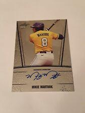 2011 Leaf draft Mikie mahtook rookie Auto autograph Tampa Bay Rays