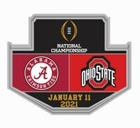 2021 CFP ALABAMA / OHIO STATE GAME PIN COLLEGE NATIONAL CHAMPIONSHIP TITLE GAME
