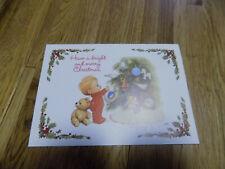 Vintage Christmas Tree Children Ruth Morehead Postcard Holidays