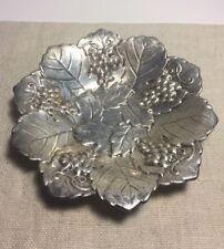 Poole Vintage Sterling Silver Leaf & Grape Vine Dish