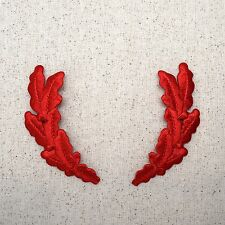 Iron On Embroidered Applique Patch Military RED Scrambled Eggs Uniform