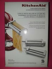 KITCHEN AID (3) THREE PIECE PASTA ROLLER & CUTTER~BRAND NEW BOXES~BID @ $1~WOW!