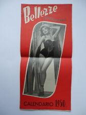 BELLEZZE 1950 CALENDARIO sexy erotic pin up girl vintage glamour