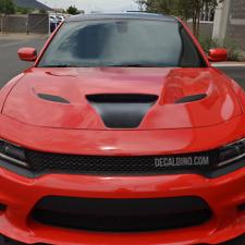 Fits 2015 Dodge Charger Hood Scoop Decal Intake Stripe Black Hellcat Srt 19