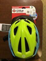 Schwinn Breeze Child Bicycle Helmet Girls Boys Ages 5+ Blue/Green 360 Degree Fit