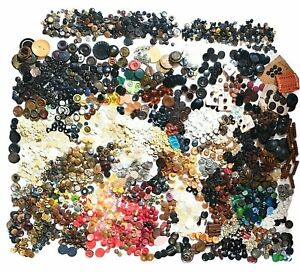 Lot of Vintage Buttons Approximately 10 lbs Great Mix