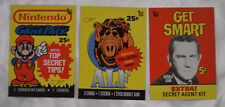 2018 Topps 80th Anniversary Wrapper Art Set #20 Nintendo Game Pack Get Smart ALF