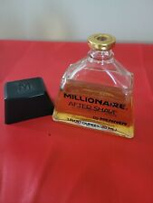 Vintage Mennen Millionaire Aftershave 3 oz. About 3/4 full. No box.