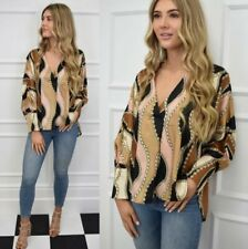NEW THE CHLOE CHAIN PRINT SILKY GORGEOUS BLOUSE LIMITED STOCK LEFT