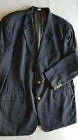 BROOKS BROTHERS 346 Men Wool 2 Button Blazer Jacket Sport Coat - 46L Navy Blue