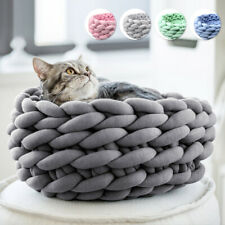 Small Pet Dog Puppy Cat Soft Cotton Cozy Warm Nest Bed House Sleeping Mat Basket