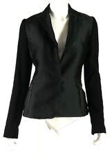 LANVIN Fall 2012 Black Radzimir & Wool Knit Sleeve Zip Pocket Jacket 40