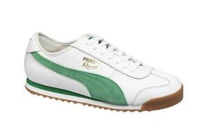 PUMA - ROMA 68 - 370601 02 - Men's Shoes - WHITE - GREEN - Size 11