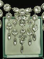 Fabulous Vintage 1960's Costume Rhinestone Choker Bib Necklace