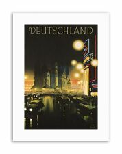 BERLIN GERMANY DEUTSCHLAND Poster Vintage Advertising Travel Canvas art Prints