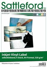 4 Vinyl-Klebefolien wetterfest A4 Aufkleber weiß Label für Inkjet Beschriftung