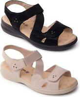 Padders LOUISE Ladies Womens Extra Wide Plus Open Toe Summer Touch Close Sandals