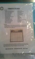 """Farmhouse Calendar 12"""" Kit - Canvas home basics - 12 month"""