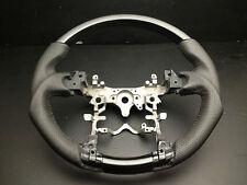 Toyota PRIUS C AQUA V 2012-2014 black wood leather steering wheel sports-Piano