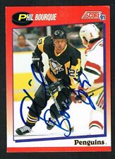 Phil Bourque #69 signed autograph 1991-92 Score Hockey Canadian Release Card