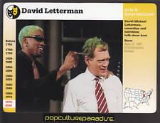 DAVID LETTERMAN TV SHOW Comedian Dennis Rodman GROLIER STORY OF AMERICA CARD
