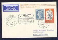 43564) AUA FF Genf Schweiz - Wien 4.7.60, Karte ab Luxemburg R!