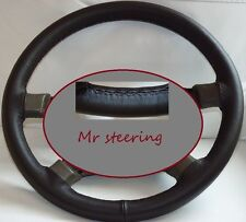 FOR TOYOTA AVENSIS MK2 REAL DARK BROWN ITALIAN LEATHER STEERING WHEEL COVER