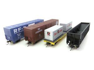 (ALK879) Life-Like Konvolut H0 DC 4er-Set US-Güterwagen OVP