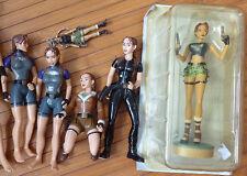 Lot de 6 figurines LARA CROFT figurine statuette jouet Playmates Toys