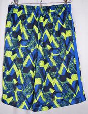 Champion C9 Mesh Shorts Lined Blue/Lime/Black Print Polyester Women's XL (16-18)