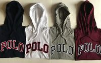 "NWT Mens Polo Ralph Lauren ""Polo"" Long Sleeve Cotton Hooded T-Shirt Hoodie"
