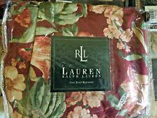 New Vintage Ralph Lauren Desert Plains Floral King Bed skirt 100% Sateen Cotton