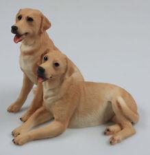 Labrador Retriever Dog DOGS Figurine Figure Animal Figurine Very Nice Castagna Pair