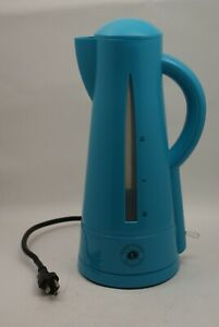 """Desert Pepper Trading Co 13"""" Tall Turquoise 1.5L Electric Kettle Cordless 1500W"""