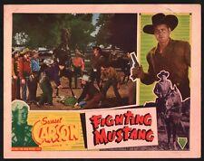 FIGHTING MUSTANG Lobby Card (VeryGood+) 1948 Western Cowboy Movie Poster 15097