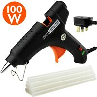 Hot Melt Glue Gun with Sticks 11mm x 200mm Professional School 100w UK Plug