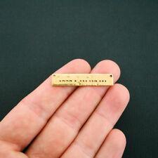 BULK 25 Jesus Morse Code Bar Connector Charms Antique Gold Tone - GC872