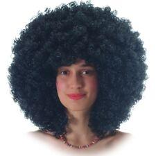 Parrucca Ricciolona nera riccia clown