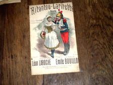 Ritantou-Larirette naïveté créée par Yvette Guilbert 1895 Emile Bouillon