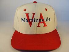 Martinsville VA Vintage Snapback Hat Cap Beige Red