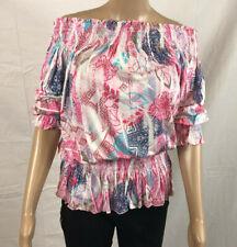 Buffalo Bandeau Damen Shirt Top Sommer Orange Batik Muster Größe 36 bis 40 NEU