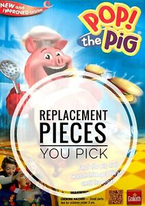 Pop The Pig Game Replacement Pieces You Choose Color Burger Hamburger Goliath