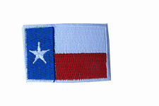 Texas State Flag Patch Embroidery Iron On LONE STAR  White Border-Small 1 5/8""