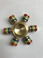 NEW FIDGET FINGER FOCUS SPIN SPINNER BRASS METAL KNUCKLE EDC BEARING STRESS TOY