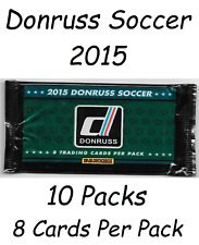 10 x Donruss Soccer 2015 packs new and sealed RRP £3.99 a pack panini