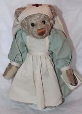 "1999 Cottage Collectibles by GANZ Ms. Nightingale Nurse Bear Doll  12"" H"