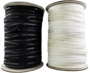 Silicone Elastic 12 mm Black & White