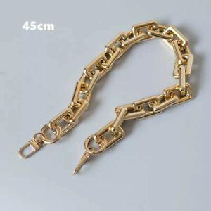 Chunky statement chain Bag strap gold square 45cm shoulder baguette pochette